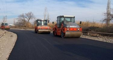 Göyçayda 12,3 km-lik yerli əhəmiyyətli yol yenidən qurulur - FOTO