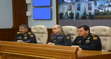 Zakir Həsənov komandirləri və zabitləri topladı -  FOTO