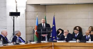 Prezident İlham Əliyev: İtaliya ilə Azərbaycan arasında hərbi sənaye sahəsində əməkdaşlığa start verilir