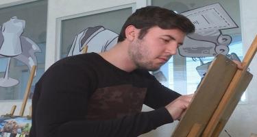 3D rəsmləri ilə diqqət çəkən bacarıqlı gənc - REPORTAJ - VİDEO - FOTO