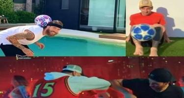 Messi, Suares və Ramos eyni klipdə - VİDEO