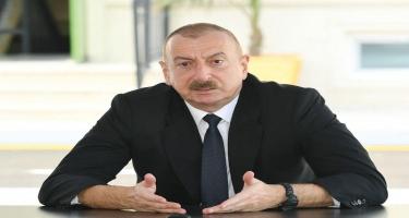 Prezident İlham Əliyev: Özünü müxalifət adlandıran bu antimilli şura sevinir ki, neftin qiyməti 14 dollara düşüb