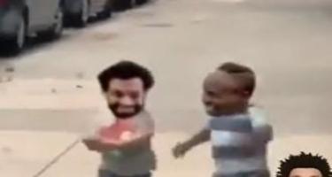 Salahdan üzləri güldürən mesaj – Video