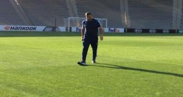 Qurban Qurbanov Respublika stadionunu yoxladı – Video