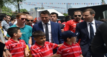 AFFA rəsmiləri ulduzlarla birlikdə - Azarkeş Festivalı başladı