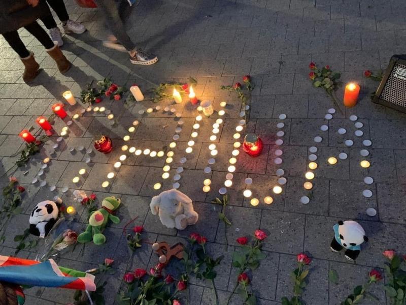 Hannover azərbaycanlıları Gəncə terrorunda həlak olanların xatirəsini yad edib (FOTO)