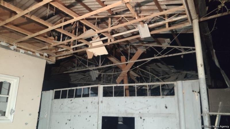 Goranboyda Ermənistanın raket atəşi nəticəsində dağılan evdən görüntülər (FOTO)