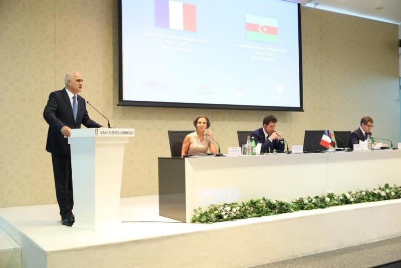 Bakıda Azərbaycan-Fransa biznes forumu keçirilib (FOTO)