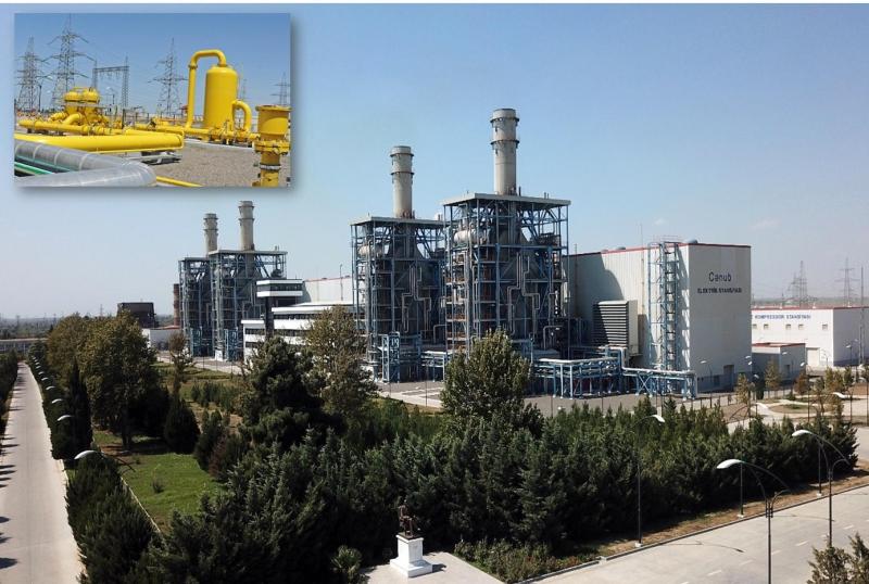 """""""Azərenerji"""" ASC """"Cənub"""" Elektrik Stansiyasına 26 km məsafədə qaz kəməri çəkib"""