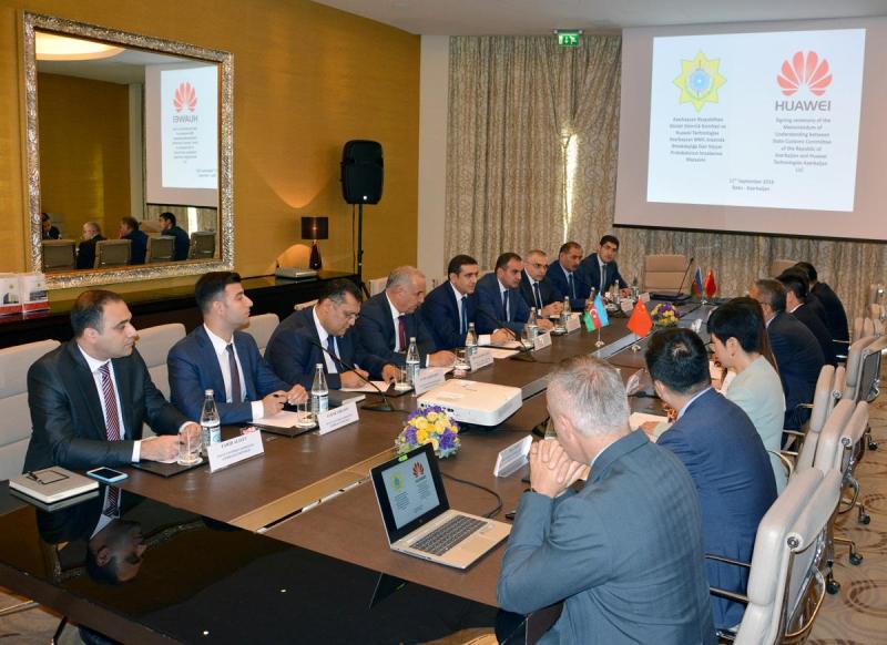 """DGK və """"Huawei Tech. Azerbaijan"""" əməkdaşlığa dair niyyət protokolu imzalayıb (FOTO)"""