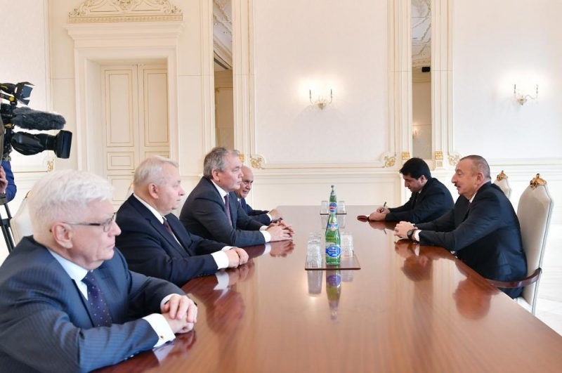 Prezident İlham Əliyev Rusiya nümayəndə heyətini qəbul edib
