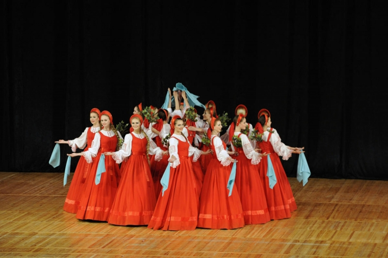 """Əfsanəvi """"Beryozka"""" ansamblı Bakıda konsert proqramı ilə çıxış edib (FOTO)"""