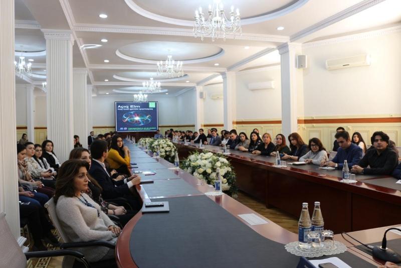 BDU-da 10 noyabr Ümumdünya Elm Gününə həsr edilmiş tədbir keçirilib (FOTO)