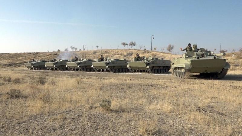 """Əlahiddə Ümumqoşun Orduda """"Ən yaxşı tank əleyhinə batareya"""" adı uğrunda yarış keçirilib (FOTO/VİDEO)"""