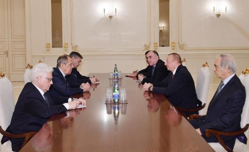 Azərbaycan Prezidenti İlham Əliyev Rusiyanın Xarici İşlər nazirini qəbul edib (FOTO)