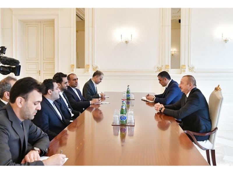 Prezident İlham Əliyev İranın Rabitə və İnformasiya Texnologiyaları nazirini qəbul edib (FOTO)