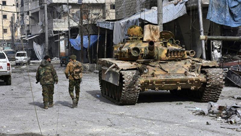 Silahlılar Suriya ordusunun mövqeyinə hücum etməyə çalışıblar