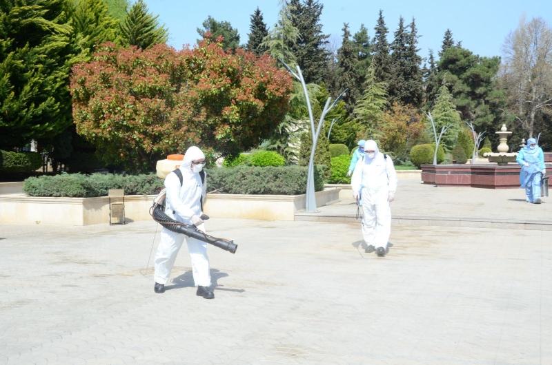 Ağsu dezinfeksiya edilir - Bina və küçələr dərmanlandı (FOTO)