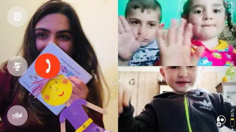 Azərbaycanın 33 rayon və şəhərində 6200-dan çox 3-4 yaşlı uşaq onlayn tədrisə cəlb edilib (FOTO)