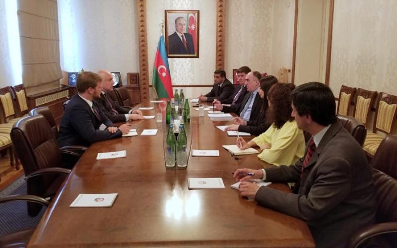 Elmar Məmmədyarov ATƏT PA-nın prezidenti ilə görüşüb
