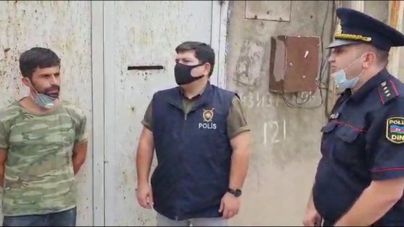 Maştağada həyətində narkotik yetişdirən şəxs saxlanılıb (FOTO/VİDEO)