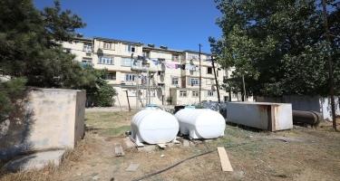 Neftçalada su problemilə bağlı kəndlərə su çənləri qoyulub, artezian quyuları qazılır (FOTO)