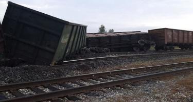 Rusiyada kömür daşıyan 11 vaqon relsdən çıxıb