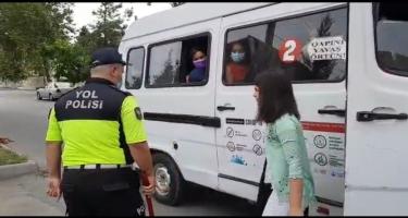 Ağdaşda ictimai nəqliyyatda tibbi maska taxmayan sürücü və sərnişinlər cərimələnib (FOTO)
