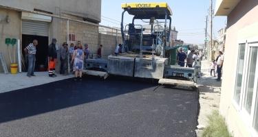 Masazırda küçələrə asfalt çəkilir - Başçı əraziyə gəldi (FOTO)
