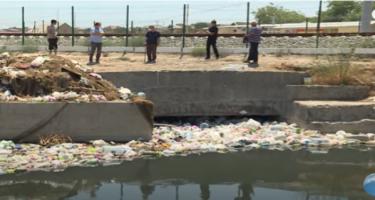 Görədil qəsəbəsində su kanalının zibilliyə çevrilməsi təsdiqləndi - RƏSMİ (FOTO)