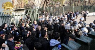 Tehranda Ermənistan səfirliyi önündə aksiya keçirilib