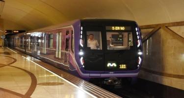 Metroda yeni qatarlar xəttə buraxıldı - Daha 20 vaqon gətiriləcək (FOTO)