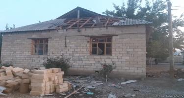 Ermənistanın ağır artilleriya zərbələri nəticəsində Bərdədə 5 fərdi evə ciddi ziyan dəyib - FHN (FOTO/VİDEO)