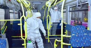 Bakıda marşrut avtobuslarının dezinfeksiyasına nəzarət gücləndirildi