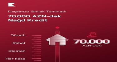 Kapital Bank sərfəli şərtlərlə daşınmaz əmlak təminatlı nağd pul krediti təklif edir
