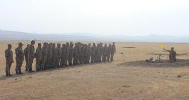 Hərbi birlikdə təlim-metodiki toplantı keçirilib (FOTO)