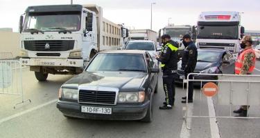 Dövlət Yol Polisi: Müvafiq icazəsi olmayan şəxslər keçid postlarından buraxılmayacaqlar