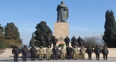 Vətən müharibəsinin qəhrəman tankçılarından bir qrupu general Həzi Aslanovun ata ocağını ziyarət edib (FOTO)