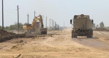 Salyan-Şirvan avtomobil yolunun yenidən qurulması yekunlaşmaq üzrədir (FOTO)