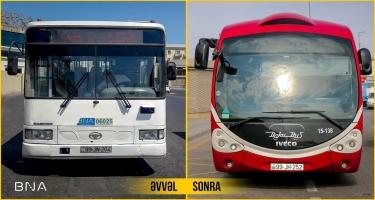 """Sabahdan 35 nömrəli marşrut xətti """"BakuBus"""" avtobusları ilə icra ediləcək (FOTO)"""