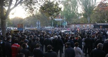 Ermənistanda Qarabağ döyüşlərinin iştirakçıları aksiya keçirib
