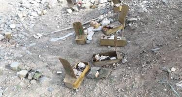 Ermənilərin Ağdamda atıb qaçdığı silah-sursat tapılıb (FOTO)
