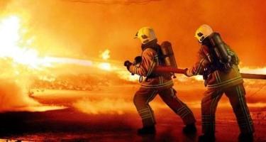 İraq aviabazasında silah-sursat anbarında yanğın baş verib