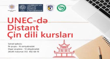 UNEC-də distant Çin dili kurslarına start verilir