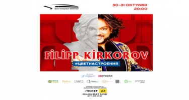 Filip Kirkorov Bakıda yeni solo konsertlə çıxış edəcək