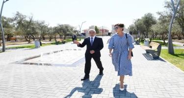 Birinci vitse-prezident Mehriban Əliyeva Kürdəxanıda yeni yaradılan istirahət parkı ilə tanış olub (FOTO)