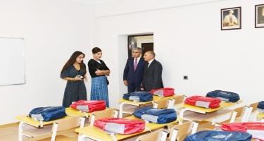 Birinci vitse-prezident Mehriban Əliyeva Şamaxıda Məlikçobanlı kənd tam orta məktəbinin açılışında iştirak edib (FOTO)