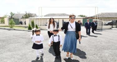Birinci vitse-prezident Mehriban Əliyeva İsmayıllı şəhərində uşaq bağçasının açılışında iştirak edib (FOTO)
