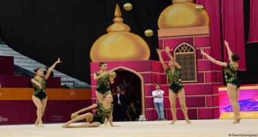 Milli Gimnastika Arenasında Dünya Çempionatının sonuncu günü start götürüb (FOTO)