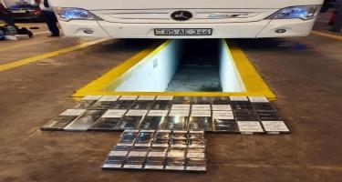 İrandan gələn avtobusda qanunsuz yolla gətirilən siqaretlər aşkarlanıb